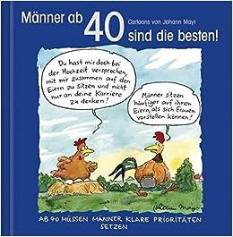 Manner Ab 40 Sind Die Besten Cartoon Geschenkbuch Zum Runden