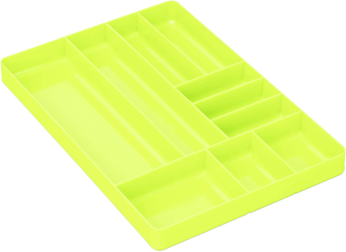 Ernst Manufacturing 5017HV Home and Garage Organizer Tray, 10-Compartments, High-Visibility