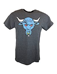 The Rock Blue Brahma Bull WWE Mens Grey T-shirt