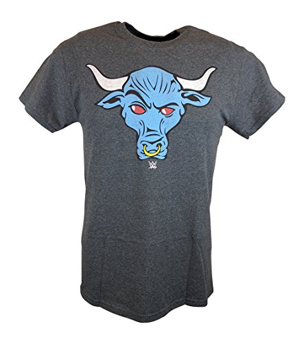 The Rock Blue Brahma Bull WWE Mens Grey T-shirt-XL by WWE