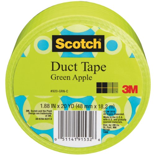3M 920-GRN-C 20 Yards Green Apple Duct Tape