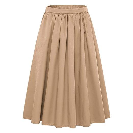 ChenYongPing Mujer Faldas Falda Acampanada Acampanada con Cintura ...