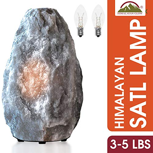 Himalayan Glow Gray Naked Salt lamp, Best as Night Light (3-5 lbs)
