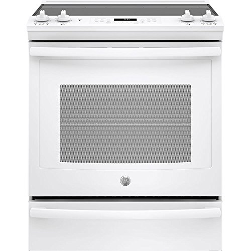 Convection Slide In Range Pro (GE JS760DLWW 30 Inch Slide-in Electric Range with Smoothtop Cooktop in White)
