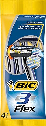 Bic - Flex 3 - Maquinilla de afeitar desechables - 4 unidades
