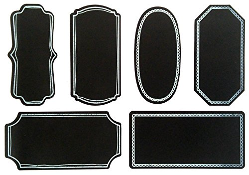 Chart and Soul Extra Large Chalkboard Jar Stickers Labels - Decorative For Home, Office, Kitchen and Bedroom- Reusable Organizer Decal