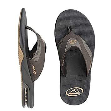8966ce87239d Reef X Fanning Men s Sandals Brown Gum Flip Flops With Bottle Opener UK11