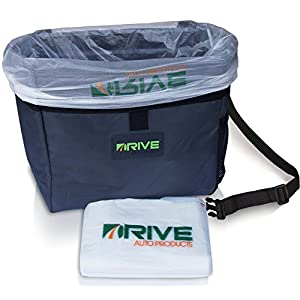 Car Garbage Can by Drive Auto Products from The Drive Bin As Seen On TV Collection, Black Strap