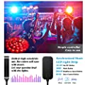 Tenmiro 32.8ft Trichromatic RGB Sync to Music Color Changing Strips,12V 600 Unit SMD 3528 LED,Flexible Non-Waterproof Tape Light,Decoration for Living Room Bedroom Bar,Party Lighting