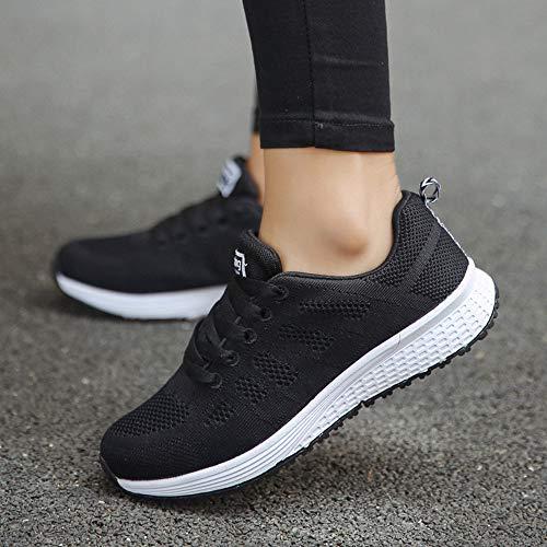 Sneakers Running Mujer Gimnasia Atletismo Zapatos Estudiante Calzado Riou Mecedora Para Volar Negro De Ligero Correr Deportes Deporte Net Zapatillas Cojines 6 Respirable Aire Deportivas qRHF0S0