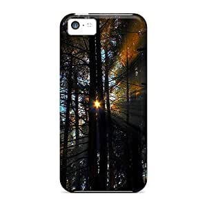 Protective Tpu Case With Fashion Design For Iphone 5c (morning Sun Beams)