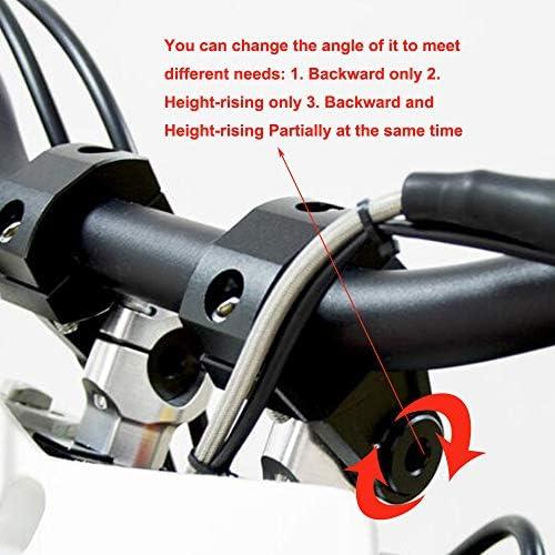 Redcolourful 1pair Handlebar Riser Clamp Kit 1//8/″ 28mm Handlebar Risers Dirt Bike Motocross Silver 1-1//8 /″ 28mm Practical Car Accessories