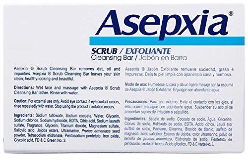 ASEPXIA Cleansing Scrub Bar with Moisturizers, Cleansers & Conditioners, 4 oz