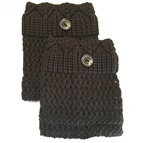 Epic Brand Leg Warmer Collection for Boots | Comfortable Short Cable Knit Boot Socks for Women (Dark ()