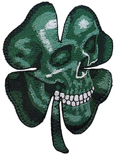 Velcro Clover Shamrock Camo Green Skull Morale Celtic Patch
