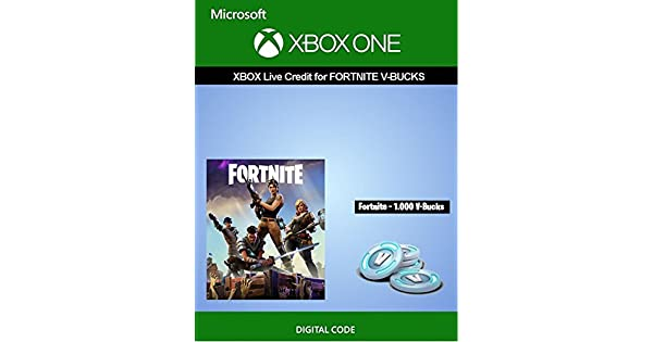 amazon com xbox live credit for fortnite 1 000 v bucks xbox one digital code video games - apps to get free v bucks on fortnite