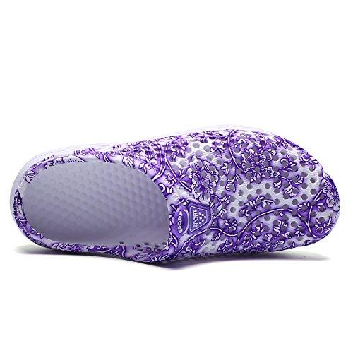 Clog Drying Sandals Barkor Women's Shoes Beach Purple1 Garden Mesh Mens Walking Summer Quick w8tq18af