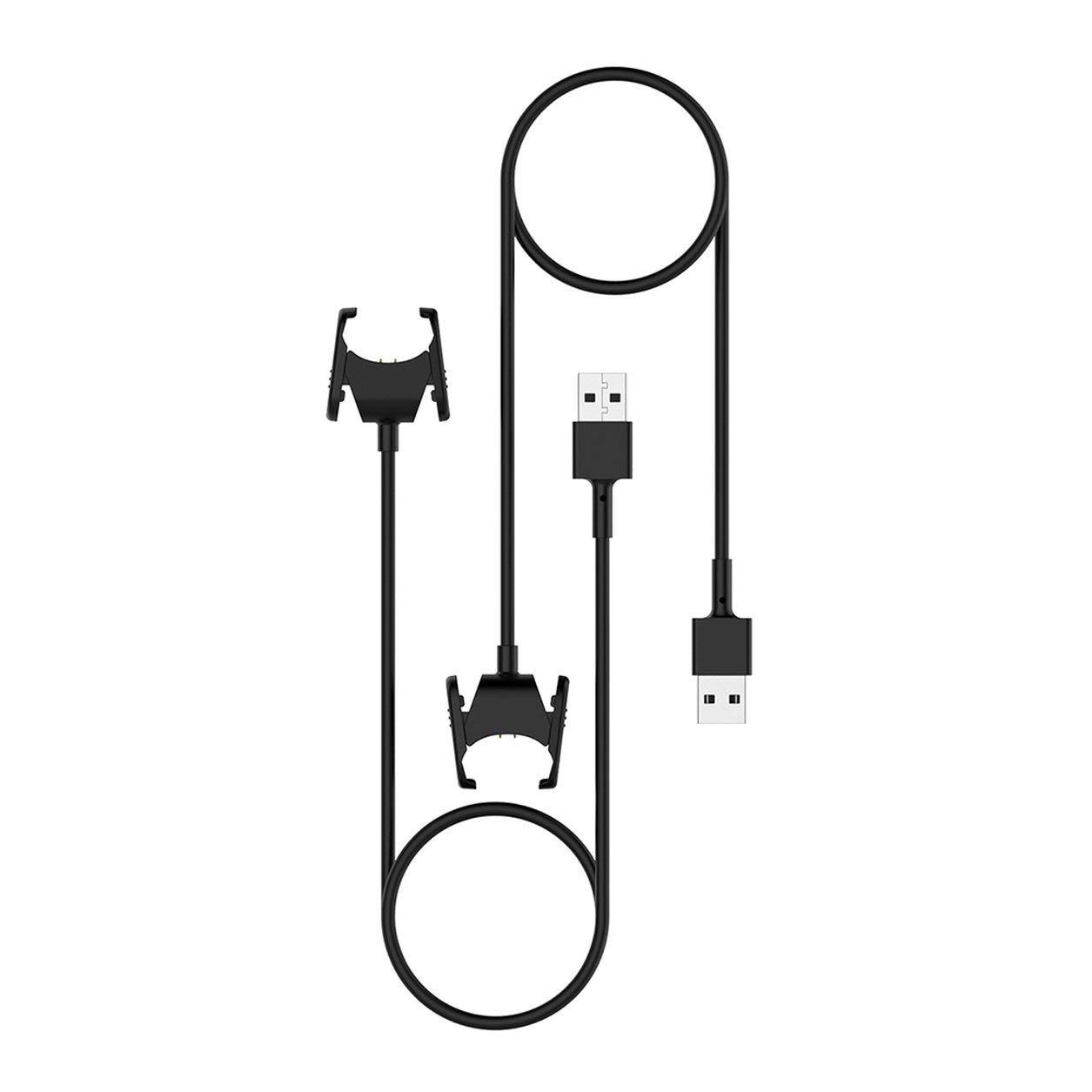 Couleur: Noir Dailyinshop C/âble de Chargeur pour c/âble Fitbit Charge 3 USB avec Cordon de Charge Clip Dock pour Bracelet Fitbit Charge3 Fitness Tracker
