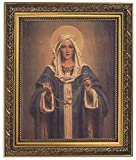 Chambers: Our Lady of the Rosary 11wx13h Inches 8x10 Print in Ornate Gold Finish Frame