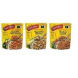 Tasty Bite Indian Entrée, THREE FLAVOR VARIETY PACK | Eack Packets, 10 Oz | TIKKA MASALA | MADRAS LENTILS | VEG KORMA