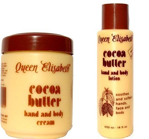 Queen Elizabeth Cocoa Butter Hand & Body Cream PLUS Queen Elizabeth Cocoa Butter Lotion (2 products 1 price)