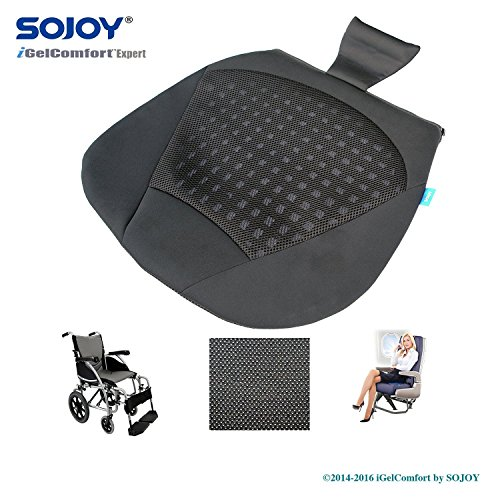 sojoy cooling breathable all gel cushion for car drivers. Black Bedroom Furniture Sets. Home Design Ideas