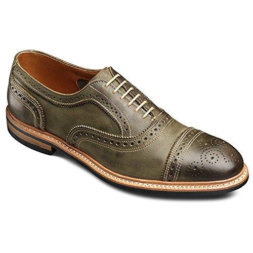 Allen Edmonds Mens Strandmok Cap Toe With Dainite Rubber Sole Olive Leather NpvzF5xf3