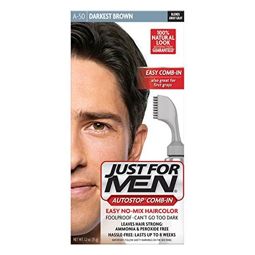 Just For Men Auto Stop Hair Color - Darkest Brown A-50 Just For Men Hair Color Men 1 Application (Pack of 3) by Just for Men