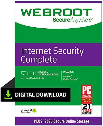 Webroot Internet Antivirus Protection Subscription product image