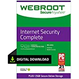 Webroot Internet Security Complete with Antivirus Protection | 5 Device | 1 Year Subscription | PC Download