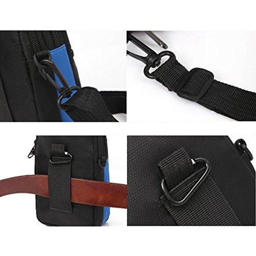 Vbiger Gürteltasche Nylon Hüfttasche Multifunktionale Bauchtasche Mini Handy Taille Taschen Rot