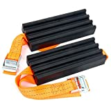 YaeTek Traction Solution for Trucks/SUV's XL - Emergency Rescue Device, Prevents Slipping in Snow, Sand & Mud - Chain or Snow Tire Alternative (Set of 2 Blocks & Straps)