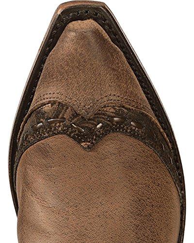 Boulet Kvinners Fancy Hånden Etterbehandles Innlegg Cowgirl Boot Klipp Tå - 1655 Brun