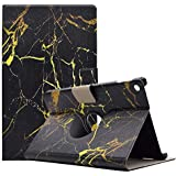 8 Kindle fire Tablet case flip Stand with Card Holder for Amazon New fire hd8 2016 6th Generation Cover Protective Skin (Black Gold)