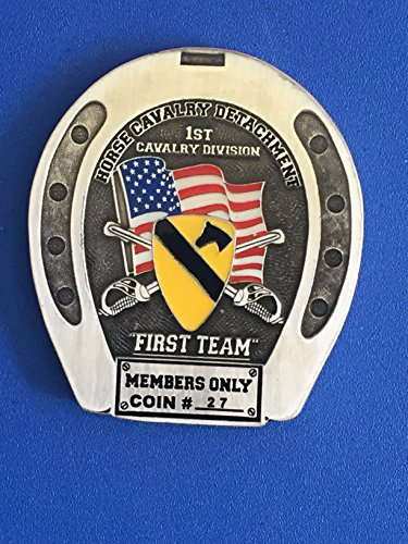 1st Cav. Div. Horse Cavalry Members Only Brass Challenge Coin