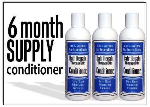 Hair Regain Volumizing Conditioner for Thicker, Fuller Hair - 6 Month Supply (Body Herbal Thickener)