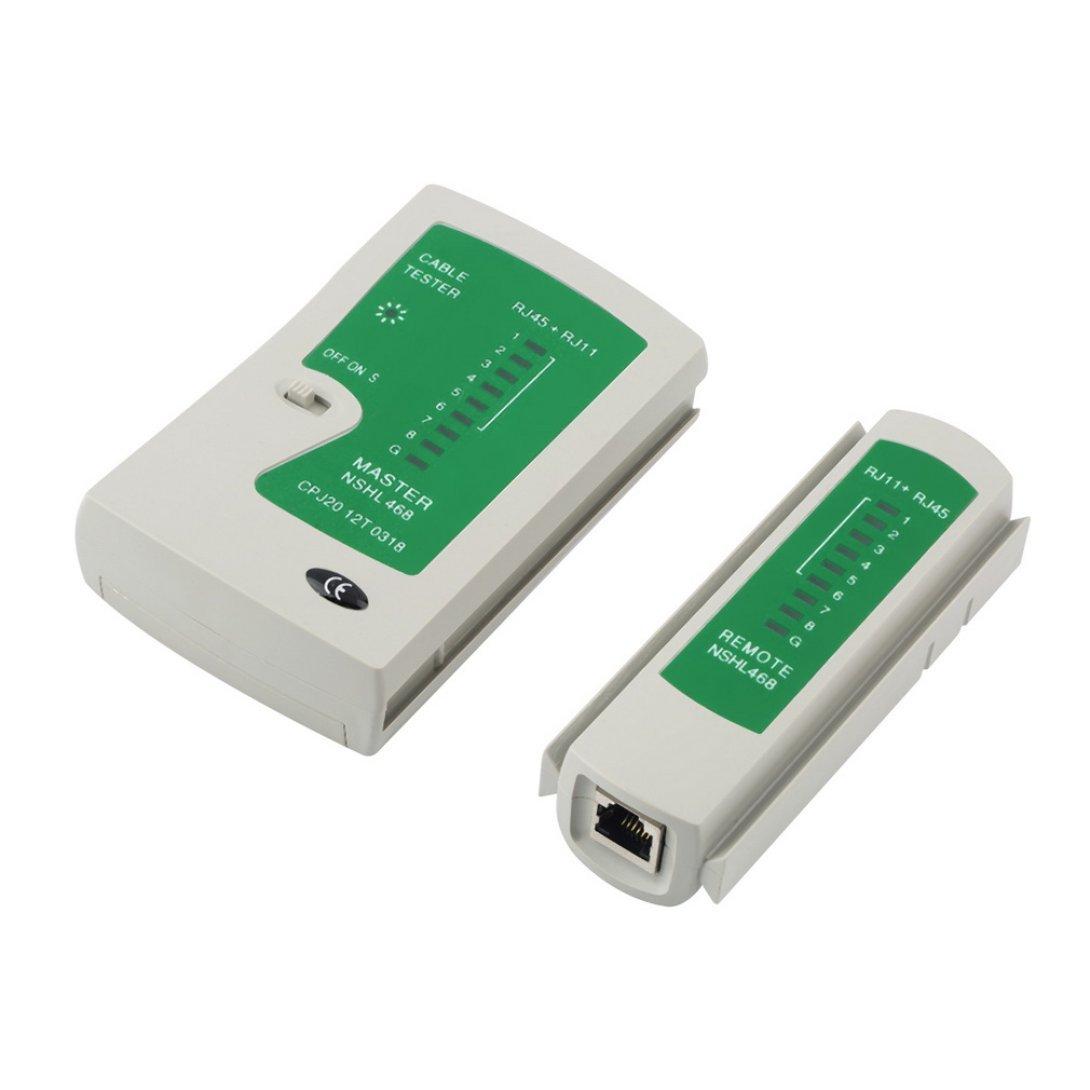 Swiftswan Probador del Cable Crimper del Crimpado + 100 RJ45 CAT5 CAT5e Conector Plug Network Tool: Amazon.es: Deportes y aire libre
