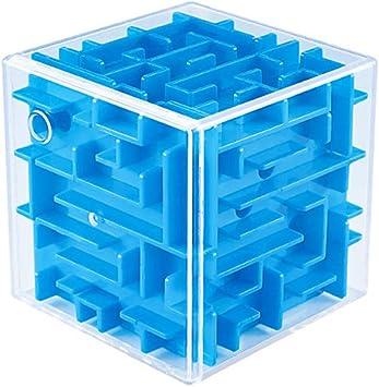 Wings of wind - Laberinto 3D Cubo Tridimensional Laberinto mágico Juguetes educativos para niños de 8 x 8 x 8 cm (Azul): Amazon.es: Juguetes y juegos