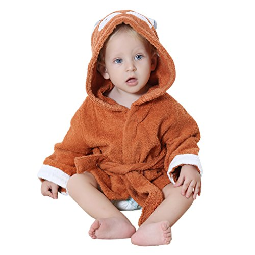 idgirl-cotton-hooded-animal-style-baby-bathrobe-towel-brown-eagle