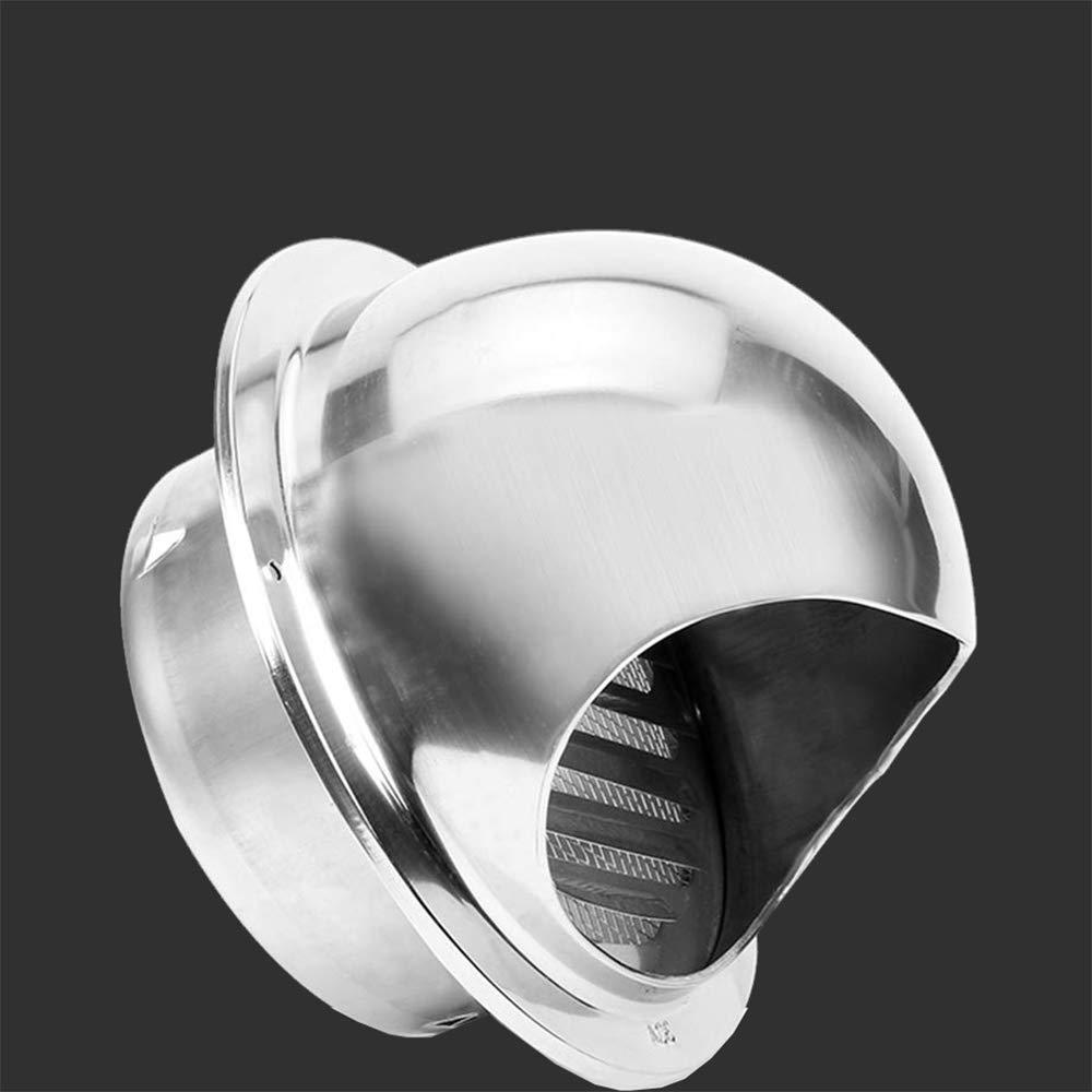 TONGXU A/érateur Rond avec Grille en Acier Inoxydable Grille Ronde Couvercle de Ventilation Sortie d/évacuation Mural Bouches da/ération 100mm