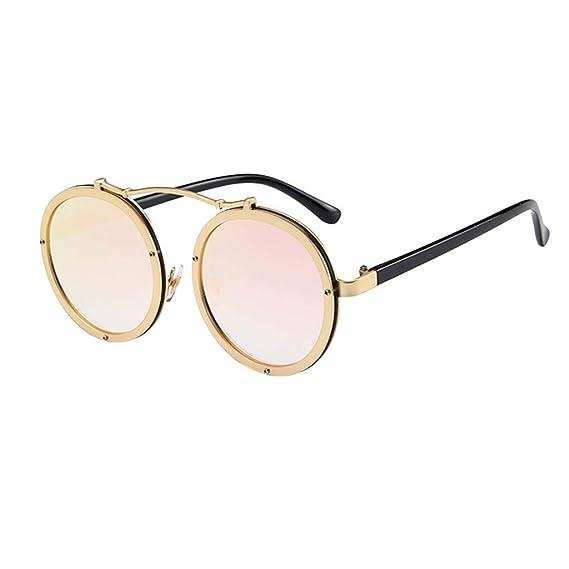 Gafas de Sol Polarizadas Hombre y Mujere Retro Steampunk ...