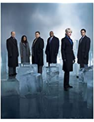 Cold Case (TV Series 2003 - 2010) 8 inch by 10 inch PHOTOGRAPH Kathryn Morris Full Body & Cast w/Giant Ice Cubes Pose 1 kn