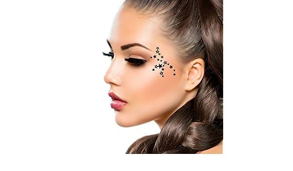 Negro Estrellas Fugaces partido ojo decoración tatuajes temporales ...