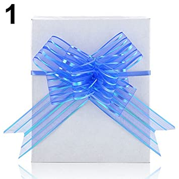 10pcs Top 50cm Ribbon Wedding Flower Pull Bows Birthday Party Present Gift Decor