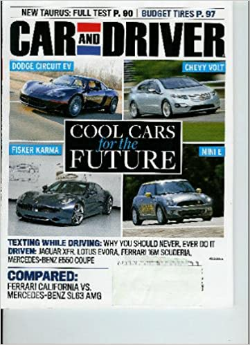 Car And Driver August 2009 Cool Cars For The Future Various Amazon