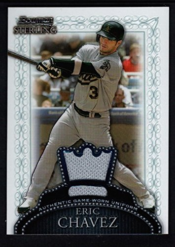 (ERIC CHAVEZ 2005 BOWMAN STERLING ATHLETICS RELIC GAME USED JERSEY SP $15 )