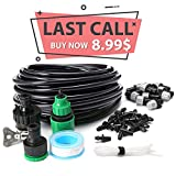 KINGSO Home Garden Patio Misting Micro Flow Drip Irrigation Misting Cooling System Plastic Mist Nozzle Sprinkler Micro Bubbler Complete Drip Irrigatio