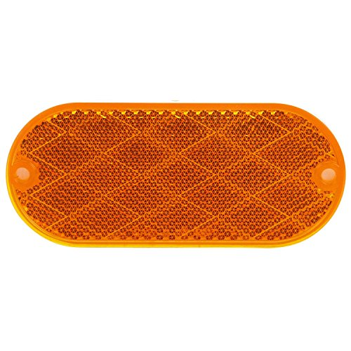 Truck-Lite 54A Signal-Stat, Oval, Yellow, Reflector, 2 Screw Or Adhesive Mount