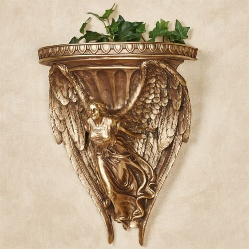 - Touch of Class Wings of Glory Wall Shelf Aged Gold