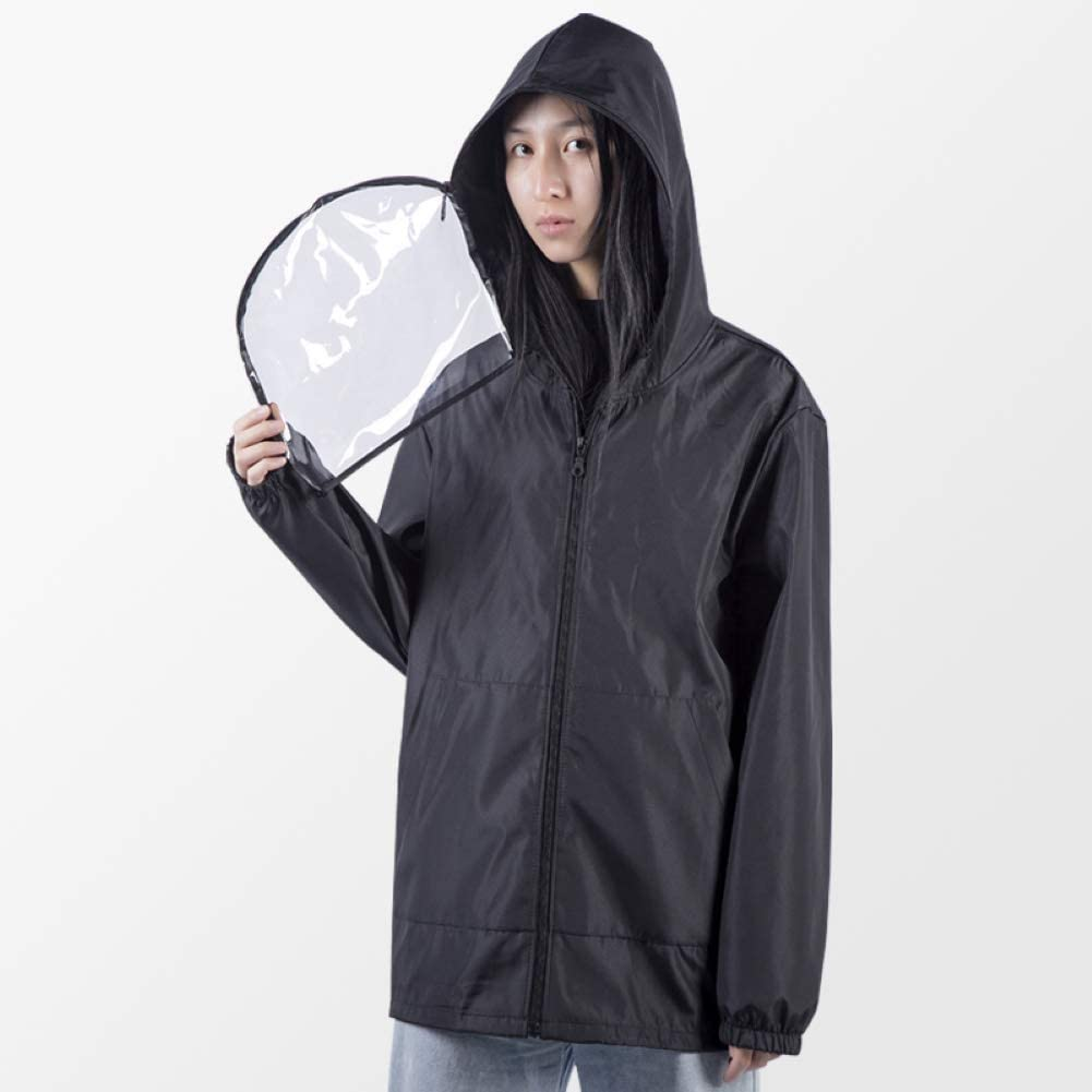 Infgreate-Anti-Fog Adjustable Full Face Shield Eye /& Head Protection,Reusable Anti Droplet Dust Isolation Clothing Jacket Protective Suit with Blue S